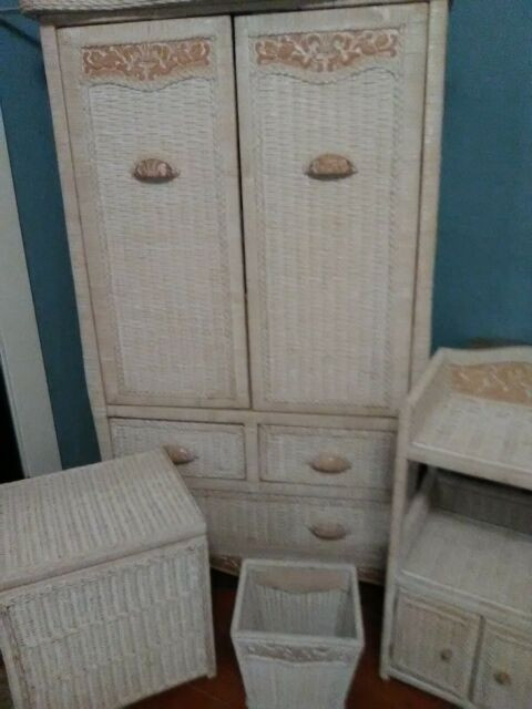 Bedroom Furniture for Sale 12 Pcs White Wicker Bedroom Furniture
