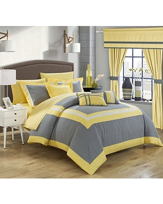 Bedroom In A Bag with Curtains Hot Bargains F Chic Home Ritz 20 Piece forter Set