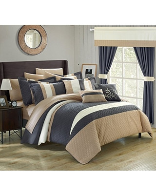 Bedroom In A Bag with Curtains Sale now F Chic Home Covington 24 Piece forter
