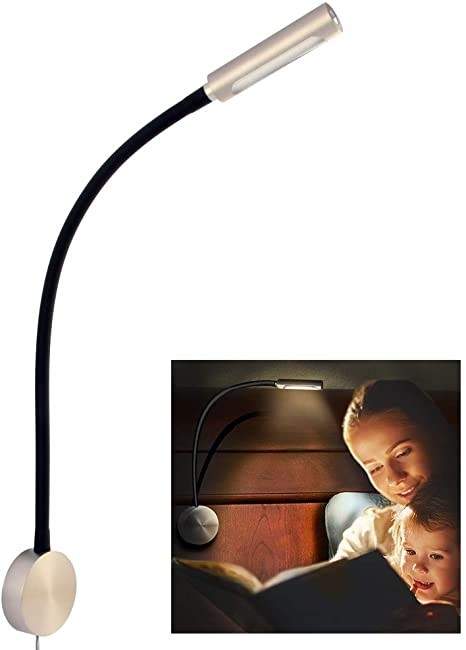 Bedroom Reading Light Wall Mounted Acegoo Bedside Led Reading Light Dimmable Flexible Gooseneck Bedroom Wall Lamp with Usb Charger and Rotary Lens Led Head touch Control Switch Wall