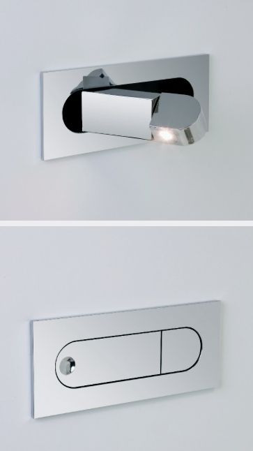 Bedroom Reading Light Wall Mounted Flush Pull Out Led Bedside Reading Light 3 Finishes