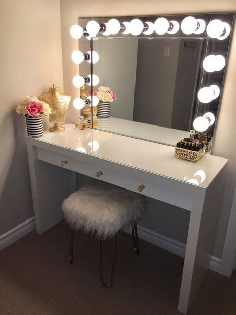 Bedroom Vanities with Light Diy Vanity Mirror with Lights for Bathroom and Makeup Station