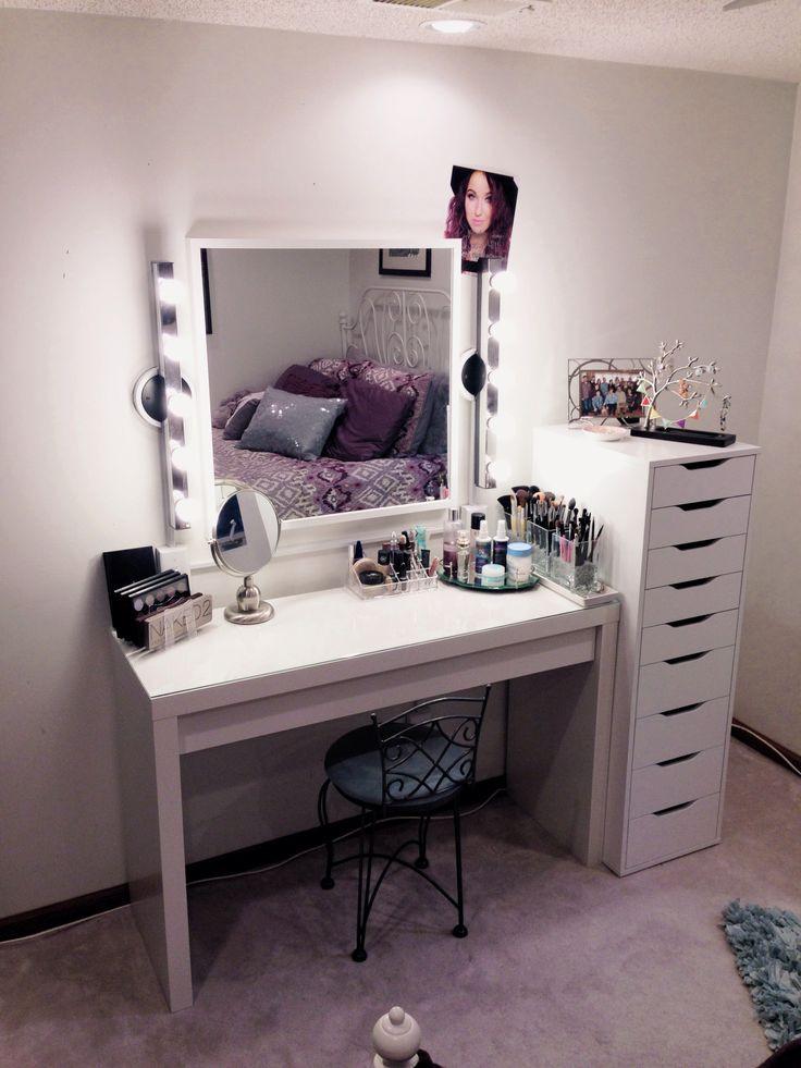 Bedroom Vanities with Light Dresser and Makeup Vanity Ideas Ikea Bination