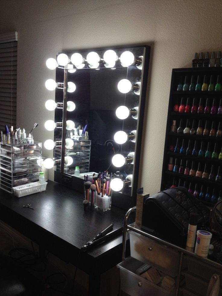 Bedroom Vanities with Light Ideas for Making Your Own Vanity Mirror with Lights Diy or