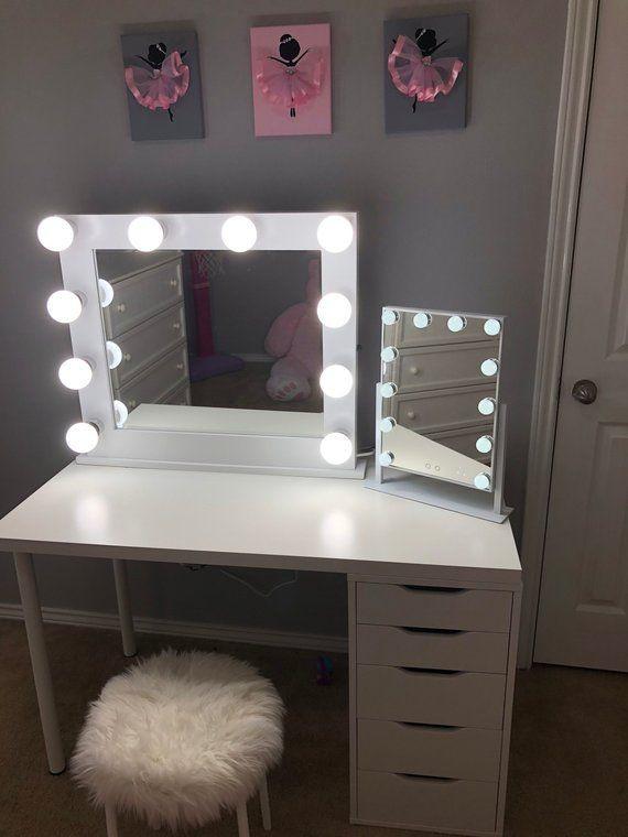 Bedroom Vanities with Light Pin On Room Closet