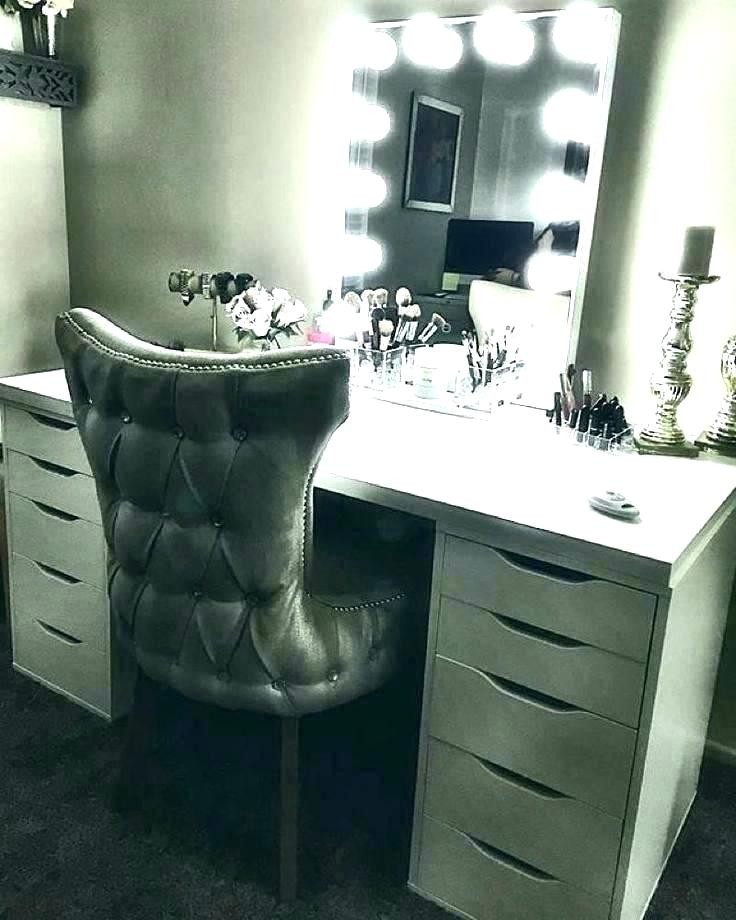 Bedroom Vanities with Light White Makeup Vanity with Lights – Republic Arms