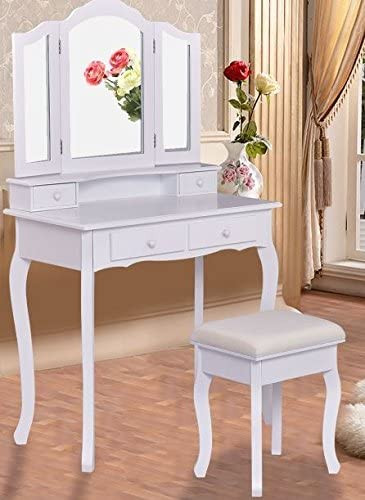 Bedroom Vanity with Drawers Amazon K&a Pany Antique Vanity Mirrors Dresser