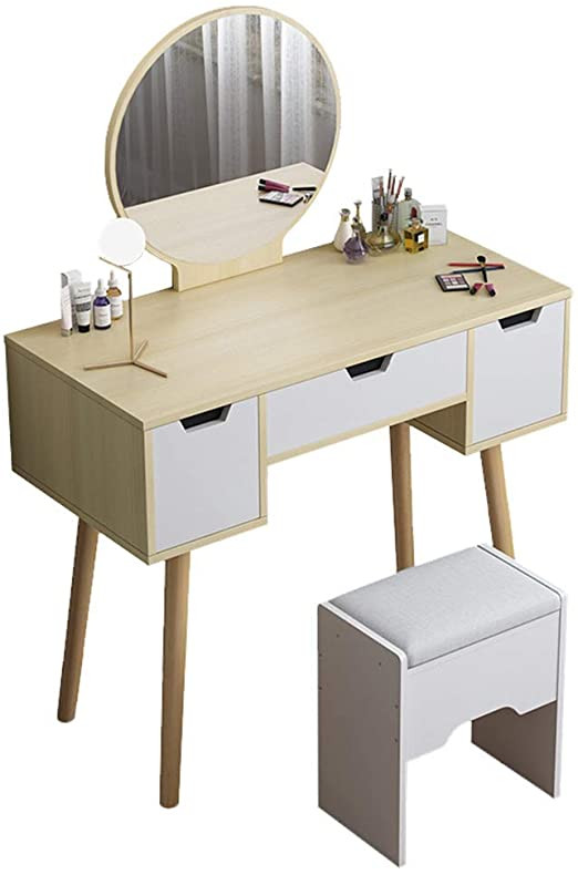 Bedroom Vanity with Drawers Amazon Wooden Vanity Table Bedroom Dressing Table Set