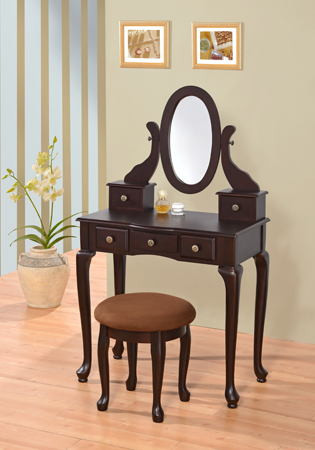 Bedroom Vanity with Drawers asia Direct 548 Esp Espresso Finish Wood 3 Pc Bedroom Vanity Set with Mirror and Stool and Multiple Drawers