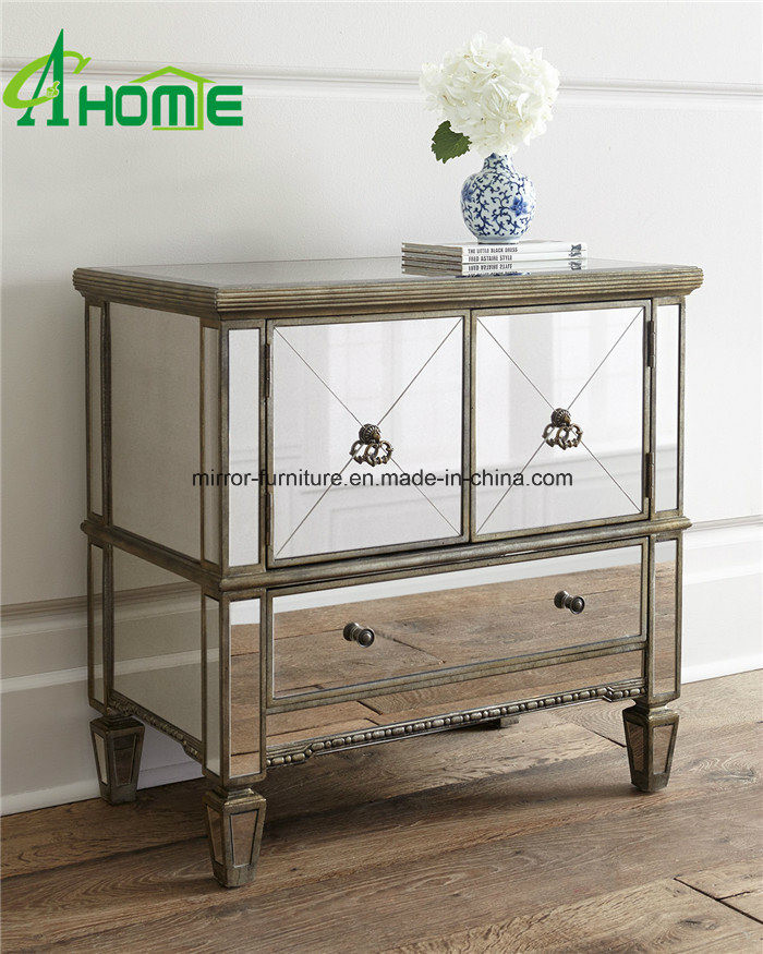 Bedroom Vanity with Drawers [hot Item] Modern Elegant Clear Pure Bedroom Vanity Mirrored Multi Drawers Bedside Chest