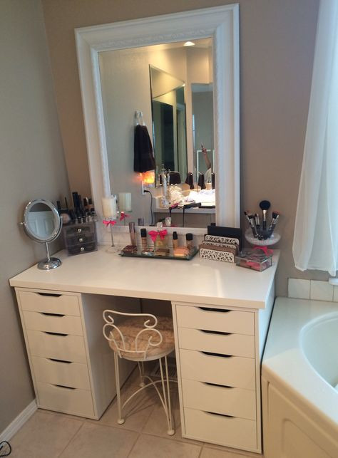 Bedroom Vanity with Drawers Makeup Vanity Ikea Drawers and Fred Meyer Mirror