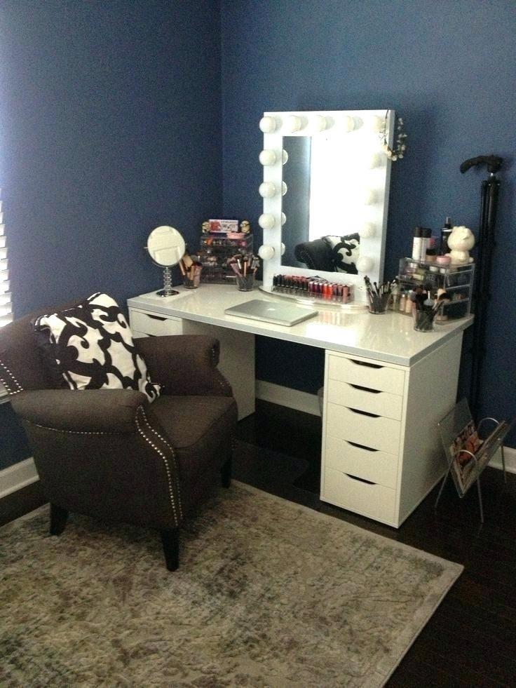 Bedroom Vanity with Light Black Makeup Desk Black Vanity Table Vanity Makeup Black