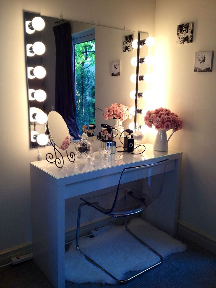 Bedroom Vanity with Light Bohemian Makeup Vanity Designs with Accent Lights