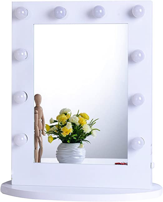 Bedroom Vanity with Light Chende Lighted Vanity Mirror In Bedroom Vanity Set Hollywood Mirror with Bright Light Bulbs for Makeup Wall Mounted or Standing 25 6 X