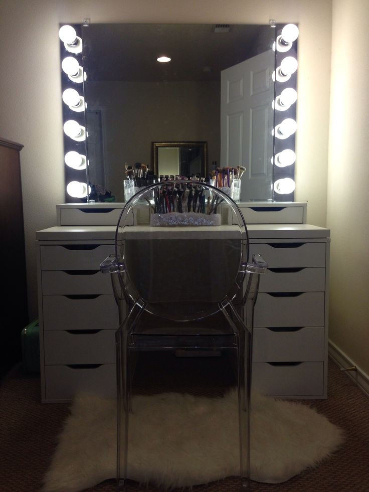 Bedroom Vanity with Light Diy Vanity Mirror with Lights for Bathroom and Makeup Station