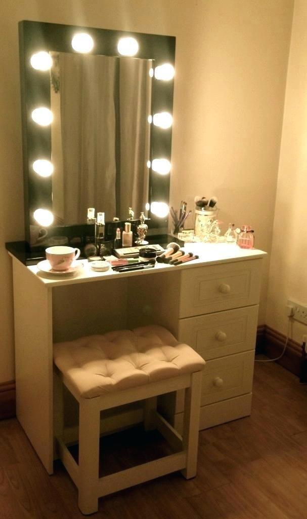 Bedroom Vanity with Light Lighting for Makeup Mirror Bathroom Vanity Table Lighting