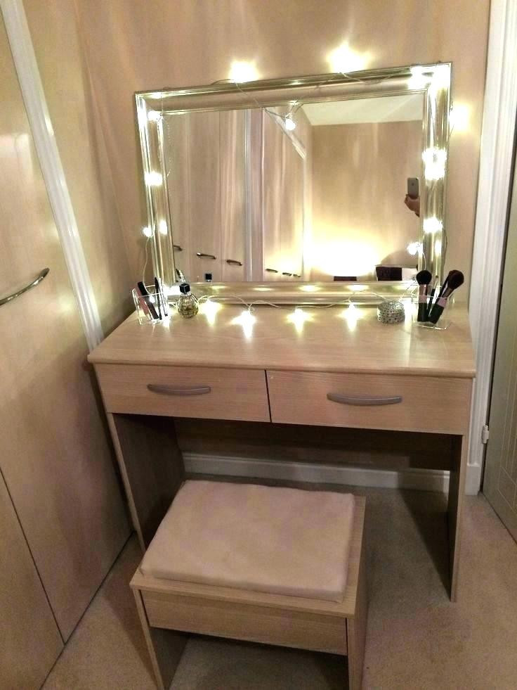 Bedroom Vanity with Light Makeup Table Lights – Roamed