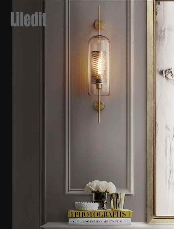 Bedroom Wall Light Fixtures Post Modern Vintage Led Wall Lamp Sconce Light Fixture Bedroom Lamp Living Room Decoration Wall Mounted European Led Light
