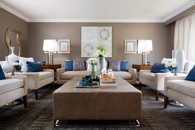 Beige Modern Living Room Decorating Ideas Jane Lockhart Beige & Blue Living Room Modern Living
