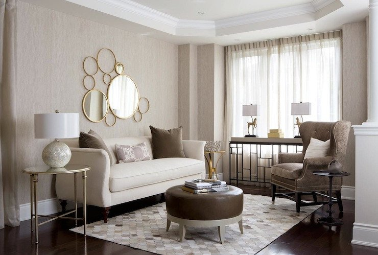 Beige Modern Living Room Decorating Ideas Neutral Palette Living Room Contemporary Living Room