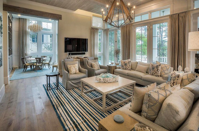 Beigh Modern Living Room Decorating Ideas 21 Coastal themed Living Room Designs Decorating Ideas