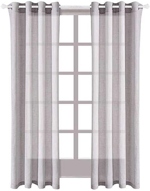 Best Curtains for Bedroom Best Dreamcity Faux Linen Semi Sheer Gray Curtains for Bedroom Pack Of 2 Panels W52 by L84 Grey