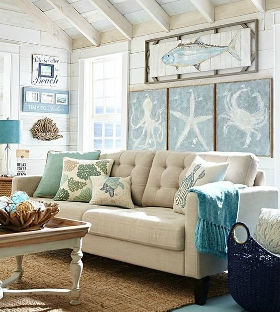 Big Wall Decor Living Room Beachy Living Room Big On Wall Decor