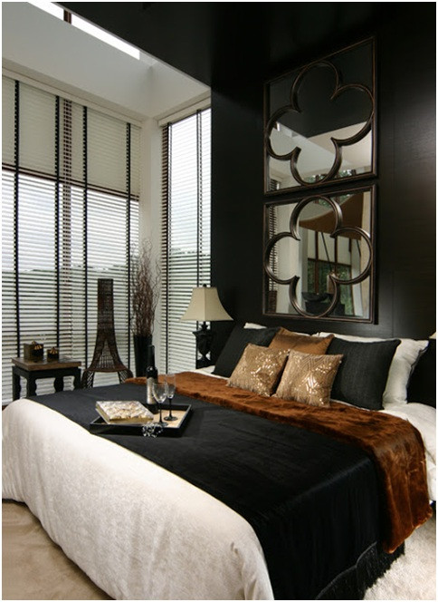 Black and Brown Bedroom Black and Brown Bedroom – Bedroom at Real Estate