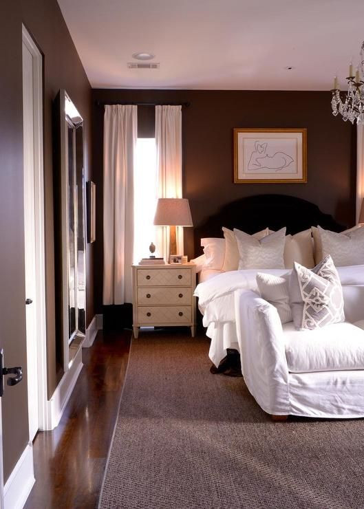 Black and Brown Bedroom Brown and Black Bedroom Features Chocolate Brown Walls Lined