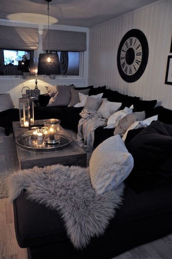 Black and Silver Bedroom Ideas Black and White Living Room Interior Design Ideas