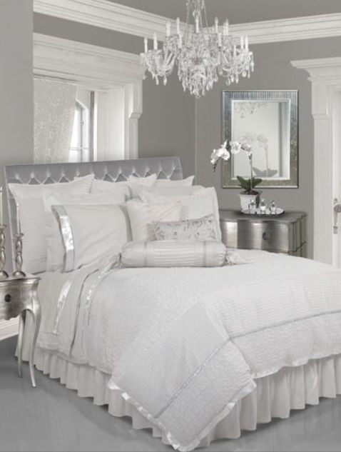 Black and Silver Bedroom Ideas Shabby White Silver Bedroom Whitebedroom Bed Romantic