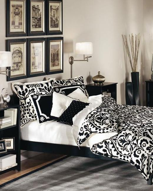 modern bedroom design black white room decorating 1