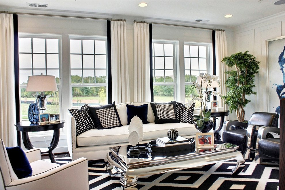 Black and White Living Room Decorating Ideas 10 Spacious Mansion Living Room Ideas