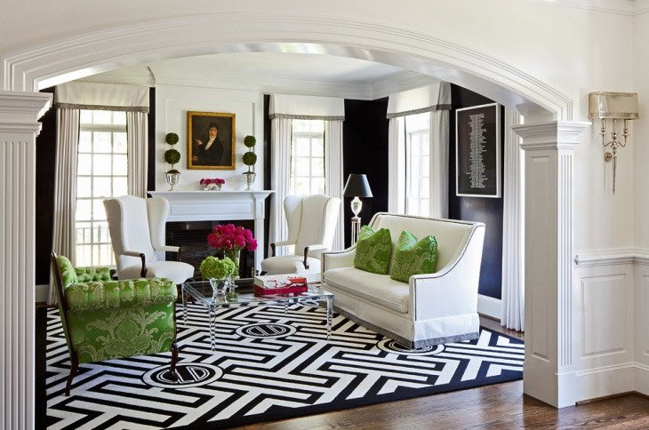 Black and White Living Room Decorating Ideas 19 Black and White Living Room Designs Decorating Ideas