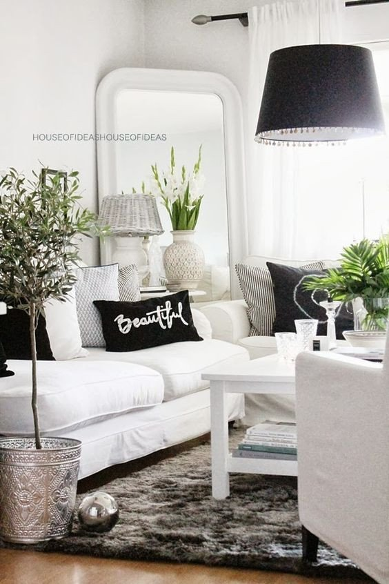 Black and White Living Room Decorating Ideas 48 Black and White Living Room Ideas Decoholic