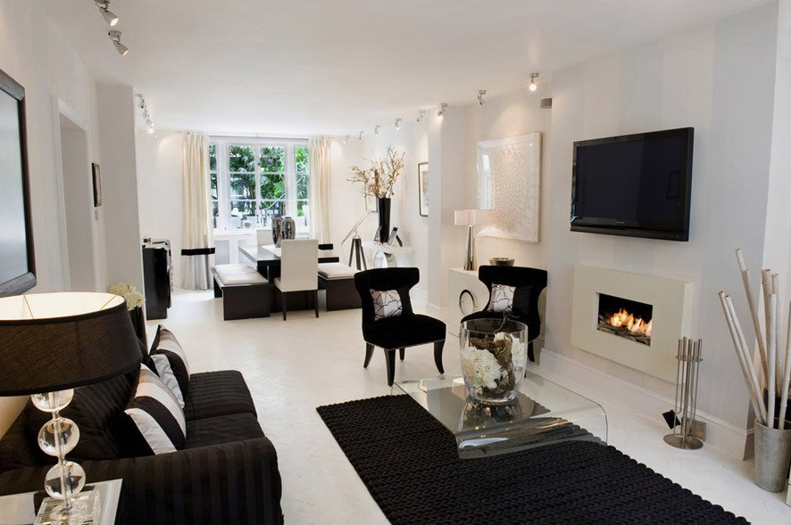 Black and White Living Room Decorating Ideas Black and White Living Room Interior Design Ideas