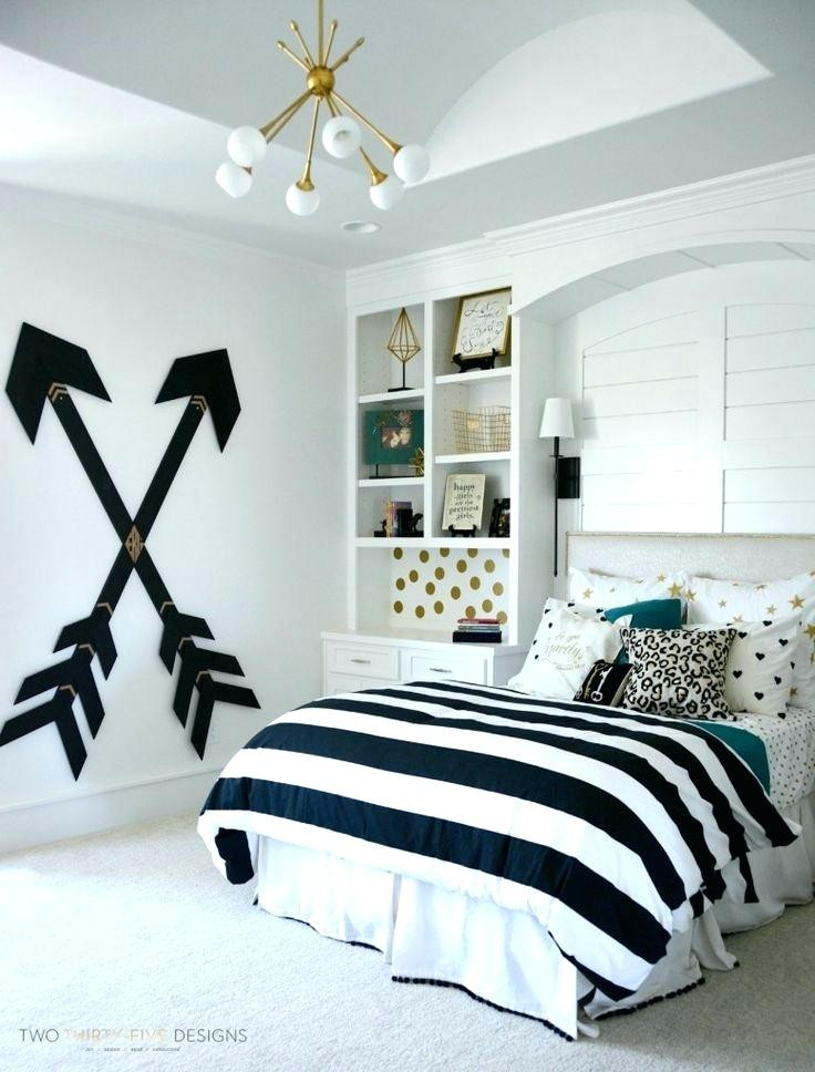 Black and White Teenage Bedroom Bedroom Modern Bedroom for Teenage Girls Contemporary
