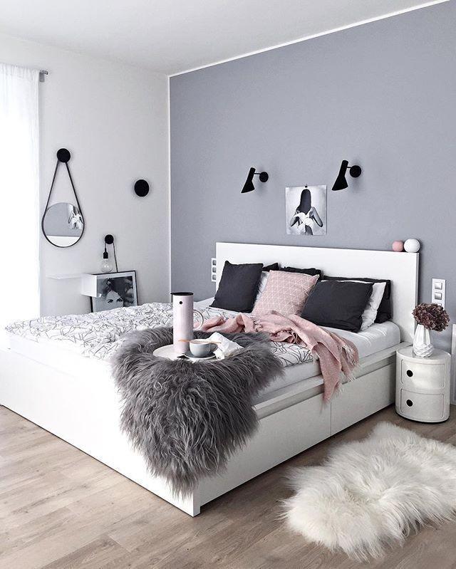 Black and White Teenage Bedroom Graue Wandfarbe Und Eine Ganz andere Art Des Streichens