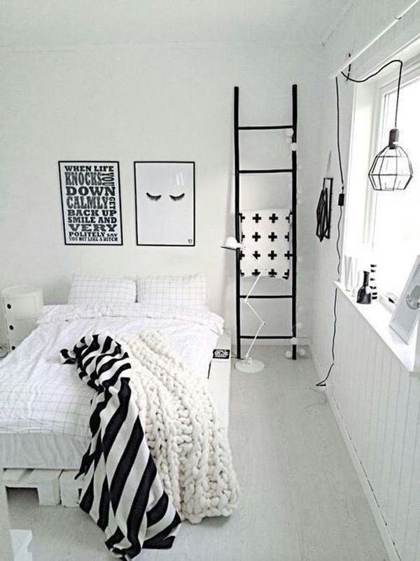 Black and White Teenage Bedroom Minimalist Black and White Bedroom Ideas with Color Palettes