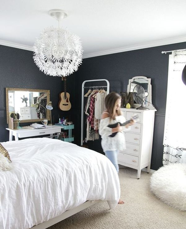 Black and White Teenage Bedroom Pin On Homemydesign