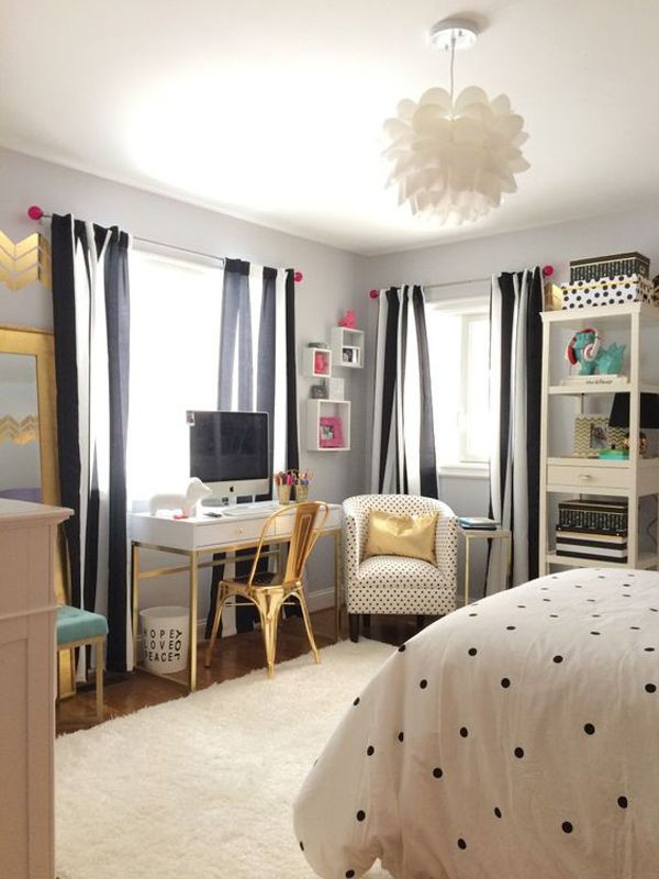 Black and White Teenage Bedroom Pin On House Decor Inspiration