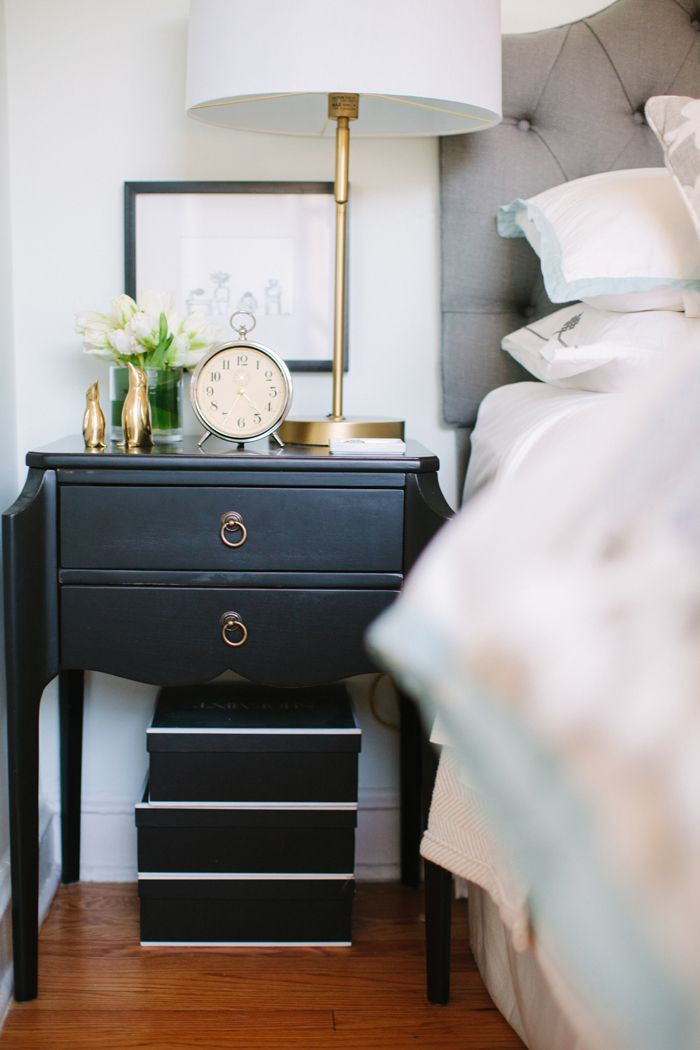 Black Bedroom Side Table 24 Ways to Style Your Bedside Table