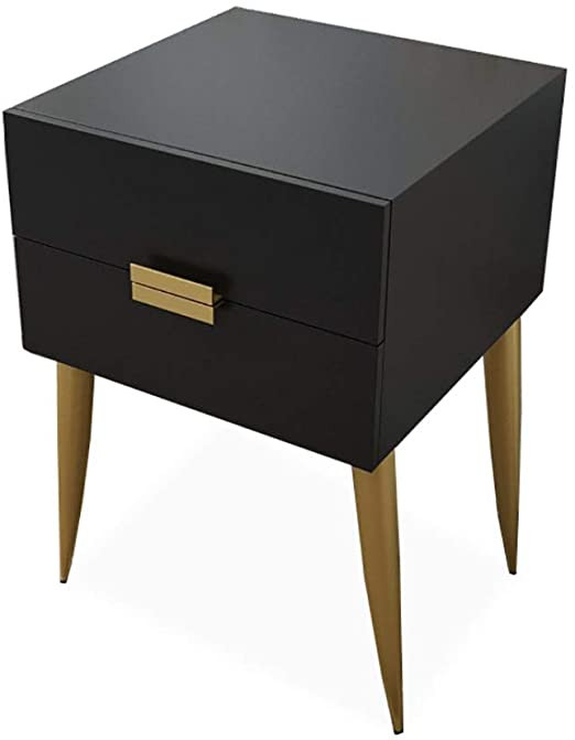 Black Bedroom Side Table Amazon Dong Hao Side End Table Nightstand with 2