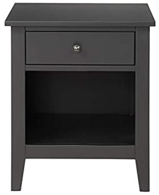 Black Bedroom Side Table Amazon Drawer Nightstand solid Wood with Storage Space