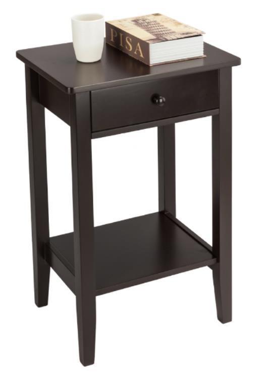 Black Bedroom Side Table Details About Set Of 2 Finish Nightstand Bedside Table Shelf Bedroom Black End Side Storage Us