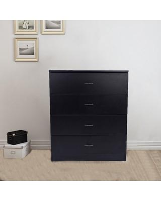 Black Bedroom Side Table Fch Ubesgoo Black Chest Of Drawers Dresser Wood organizer Cabinet 4 Drawer Nightstand Side Table Furniture for Bedroom From Ubesgoo
