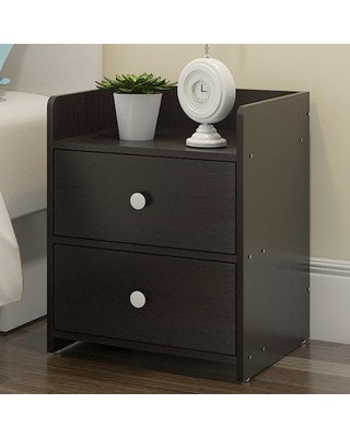 Black Bedroom Side Table Greensen Greensen Mdf Wood Nightstand with 2 Drawers Bedside Table for Storage Modern Home Bedroom Furniture Black White From Wal Mart Usa Llc