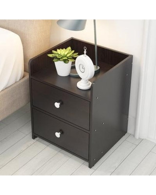 Black Bedroom Side Table Hurrise Hurrise Modern Nightstand Side End Table with 2 Drawers Wooden Night Stand End Bed Side Table for Home Bedroom Black From Walmart