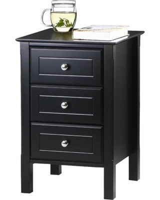 Black Bedroom Side Table Yaheetech Yaheetech 3 Drawer Tall Nightstand End Table Storage Wood Cabinet Bedroom Side Storage Black From Wal Mart Usa Llc