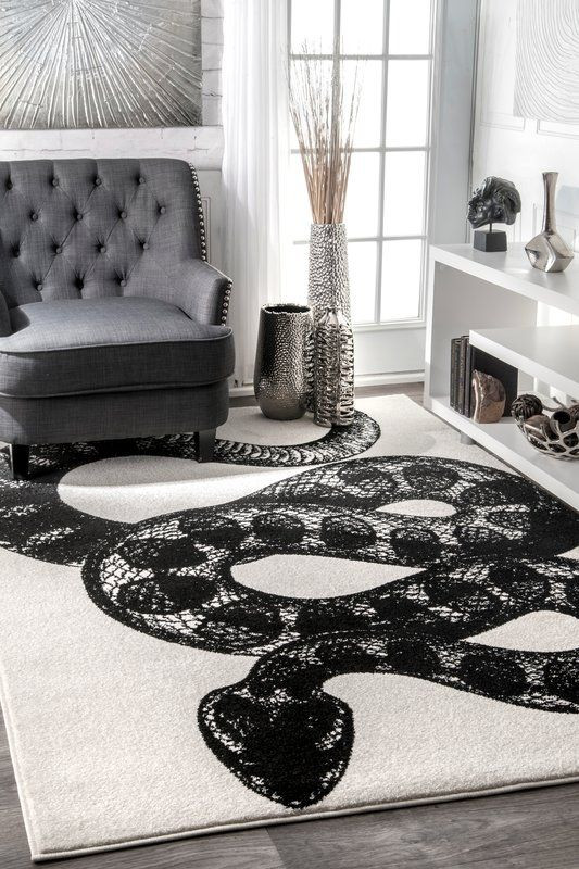 Black Rugs for Bedroom Black White area Rug